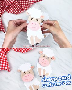 Make this easy sheep card craft with the kids for Easter! It's a fun and cute homemade card idea tha Eid Crafts, Fun Easy Crafts, Easy Paper Crafts, Diy Crafts For Gifts, Easter Crafts For Kids, Creative Crafts, Ramadan Decoration, Sheep Cards, Tarjetas Diy