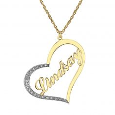 Personalized Heart with CZ  Accents (33x30mm)  #AIDearSanta #pinittowinit #pin2win #sweepstakes #contest