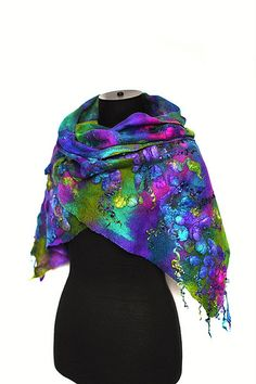 Felted Textured Scarf | Flickr - Photo Sharing!