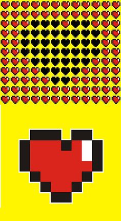 This would be cute to do the red hearts with the big black one as a quilt and the single heart as pillows maybe?