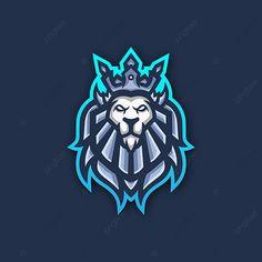Team Logo Design, Mascot Design, Cat Gamer, Logo Animal, Lion Games, Esports Logo, Lion Logo, Game Logo, Logo Concept