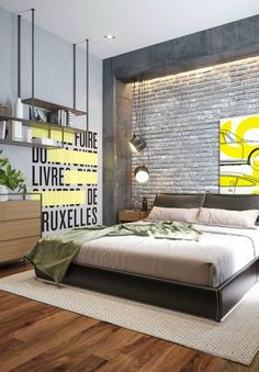 Irresistible charms appear from the industrial bedroom. See how that becomes spellbinding in our 10 industrial bedroom ideas here. Home Bedroom, Modern Bedroom, Bedroom Ideas, Master Bedrooms, Industrial Bedroom Design, Industrial Living, Industrial Furniture, Industrial Stairs, Industrial Closet