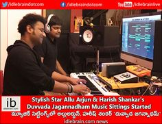 Stylish Star Allu Arjun & Harish Shankar's Duvvada Jagannadham Music Sittings Started http://idlebrain.com/news/today/dj-music-sittings-started.html