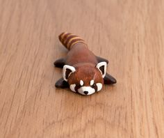 red panda polymer clay totem by lifedancecreations on DeviantArt