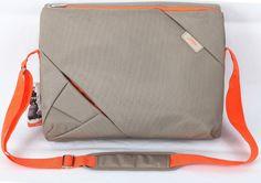 15.6 inch Laptop Messenger Bag Grey/Orange Design Suitable for 15.6 Inch fits…