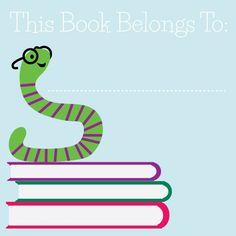 Book Worm bookplate, Free Downloads!