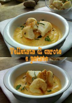 Ingredienti: 300 g di patate  3 carote 2 cucchiai di olio di oliva 200 ml di acqua 1 dado vegelate 200 ml di latte