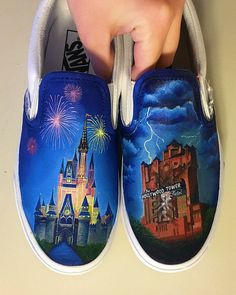 Disney Painted Vans  Cinderella's Castle and the by ShannysShoes