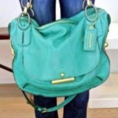 Coach aqua bag
