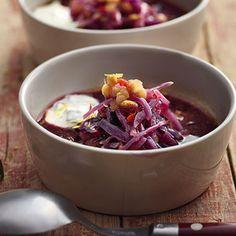 Indische Linsensuppe mit Rotkohl und Cranberrys Rezept | Küchengötter