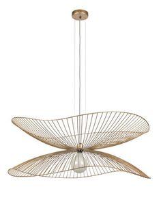 Sospensione Libellule Large - / Ø 100 x H 40 cm di Forestier Wire Pendant Light, Ceiling Lamp, Ceiling Lights, Imperial Hotel, Beige Aesthetic, Light Fixtures, Lighting, Simple, Interior