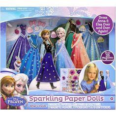 Amazon.com: Frozen Sparkling Paper Magnetic Dolls: Toys & Games