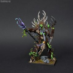 I guess the new name for this mini should be Sylvaneth Treelord Ancient. But this one is still for Warhammer Fantasy not AoS so I'll keep old names for those. Click photos to enlarge. Warhammer Wood Elves, Warhammer Terrain, Warhammer Aos, Warhammer Models, Warhammer Fantasy, Age Of Sigmar, Wood Elf, Fantasy Battle, Mini Paintings