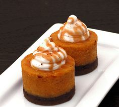 Pumpkin Cheesecake with Bourbon Whip. Because there's nothing like taking a wholesome food like a pumpkin and turning it into something that makes you do the walk of shame away from the table.  Or the refrigerator, at 3 am.