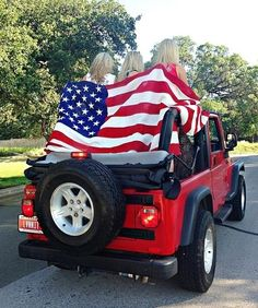 Whats more American than a Jeep with an American flag on it?