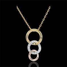 gouden juweel Halsketting Gala - 3 goudsoorten