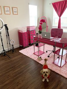 Pink Home Decor, Home Office Decor, Cream Living Room Decor, Room Ideas Bedroom, Bedroom Decor, Tech Room, Beauty Room Decor, Building A Container Home, Welcome To My House