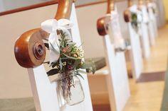 church pew decorations wedding - Google Search
