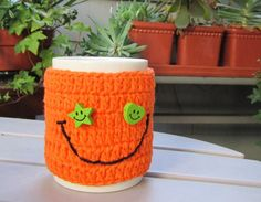 Big Smile Crochet Cup Cozy Tea Mug Sleeve  Ready to by OurSunshine, $16.99