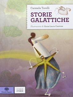 별들의 이야기   by Carmela Torelli 언어: 이탈리아어, 8세 이상, 144페이지   행성, 태양계, 별들의 이름이 되어 우리에게 잘 알려진 유명한 신화의 인물들을 소개하는 책이다. 모든 이야기의 끝에는 간단하게 정리된 정보를 추가로 제공한다. 이제 밤하늘의 별을 보면서 신화의 인물을 바로 떠올릴 수 있게 될 것이다.