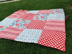 Picnic Blanket from Meadowlark Designs.  Check out meadowlarkdesigns1.etsy.com