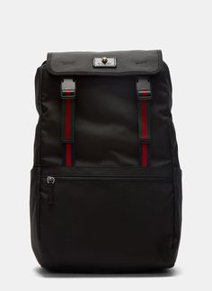GUCCI Men'S Zaino Technical Canvas Backpack. #gucci #bags #canvas #lining #polyester #nylon #backpacks #cotton #