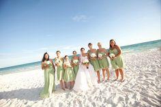 Bridal Party- Bridesmaid Dresses  Beach Wedding Destin, Florida Beach Wedding Santa Rosa, Florida Beach Wedding