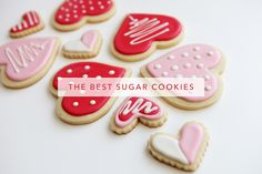 Sugar cookies & royal icing recipe and how-to. It is my destiny to make these cookies. Best Royal Icing Recipe, Best Sugar Cookie Recipe, Best Sugar Cookies, Delicious Cookie Recipes, Yummy Cookies, Sweet Recipes, Dessert Recipes, Betty Crocker Royal Icing Recipe, Yummy Food