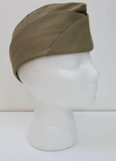 b4e01f26099 BERNARD CAP CO U.S. Navy Womens Garrison Cap Sz 21.5 Khaki 21925   BernardCapCo  GarrisonCap