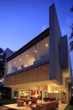Rear entertainment porch of Godoy house; Guadalajara, Jalisco, Mexico...