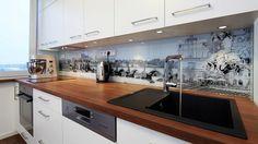 Nová bílá kuchyňská linka v garsonce