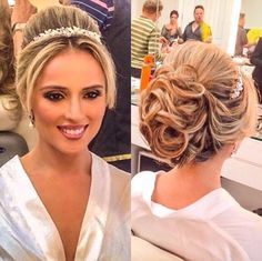 Pins for Ladies Wedding Hair And Makeup, Bridal Hair, Hair Makeup, Peinado Updo, Quinceanera Hairstyles, Braut Make-up, Isabelle, How To Make Hair, Bride Hairstyles