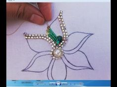 Hand Embroidery/Amazing Flower Embroidery with Beads,Beads Embroidery Work - - Hand Embroidery/Amazing Flower Embroidery with Beads,Beads Embroidery Work perlage Handstickerei / Erstaunliche Blumenstickerei mit Perlen, Perlenstickerei Bead Embroidery Tutorial, Hand Embroidery Videos, Hand Embroidery Flowers, Bead Embroidery Patterns, Bead Embroidery Jewelry, Hand Embroidery Stitches, Hand Embroidery Designs, Beaded Embroidery, Beading Patterns