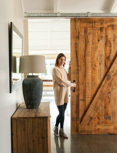 This family home in Havelock North proves new-builds can have character Wooden Barn Doors, Glass Barn Doors, Green Barn, Black Barn, Havelock North, Slider Door, Barn Style Doors, Farmhouse Interior, Modern Materials