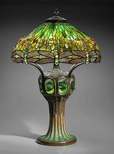 Dragonfly lamp circa 1900, by Louis Comfort Tiffany studios.