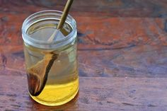 Honey-water for health benefits.