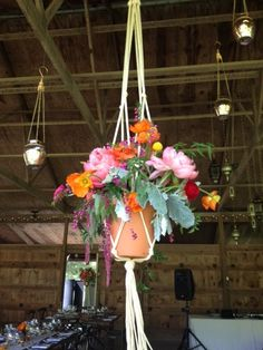 Hanging Centerpieces ~ Rustic Chic Wedding at Murray Hill