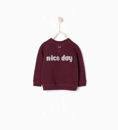 Sweatshirt 'nice day' zara