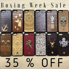 "All designs are 35% OFF right now! Get your hands on a few cases before this sale ends! While supplies last. Use promo code ""BOXING15"" at checkout. SHOP NOW: www.KeywayDesigns.com (link in bio) #iPhone #Samsung #Keyway #KeywayDesigns #RealWoodCase #WoodeniPhoneCase #CanadianMade #MadeInCanada #Toronto"