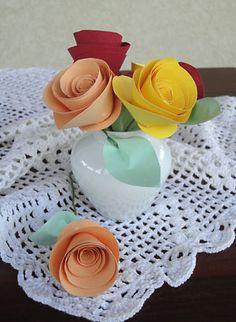Rosas de papel, dicas de projetos artesanais variados | Vila do Artesão