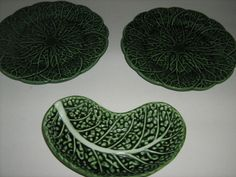Collection of three old leaf plates/dish wall mount by MEMsArtShop