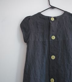 """tent line dress with buttons up the back  pattern is from japanese book """"daily sewing book""""."""