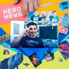 Além do canal do YouTube, o Nerd News agora tem blog! #FazendoArteNaDia #scrapbooking
