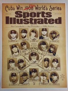 Chicago Cubs World Series Champions Sports Illustrated Cover Poster Print x Mancave Bar MLB Cubbies Baseball Stadium Chicago Cubs World Series, Chicago Cubs Baseball, Sports Baseball, Sports Teams, Baseball 2016, Baseball Wall, Baseball Teams, Baseball Gloves, Venezuela