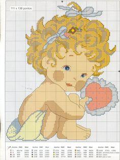 Punto de Cruz GRATIS: Tiernos bebes