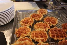 Belgian Sugar Waffles made with real Belgian pearl sugar. World Food Market, Belgian Pearl Sugar, Belgium Food, Belgium Waffles, Christmas Brunch, No Sugar Foods, Waffle Iron, Breakfast In Bed, Dry Yeast