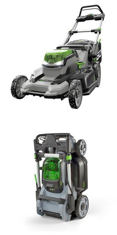 This is the most powerful rechargeable mower on the market and the first to match or surpass the performance of premium gas-powered models. All that grass-cutting power with no fumes and much quieter operation. It even folds up for storage in tight spaces. Click through to learn more about this advance in battery powered lawn mowers.