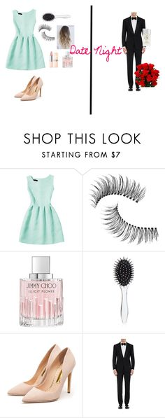 """Date Night"" by teendelta ❤ liked on Polyvore featuring Trish McEvoy, Jimmy Choo, New Look, Rupert Sanderson, Ralph Lauren Purple Label and Calvin Klein"