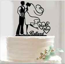 Romantic Groom Bride Acrylic Wedding Cake Topper Birthday Cake Party Cake Topper