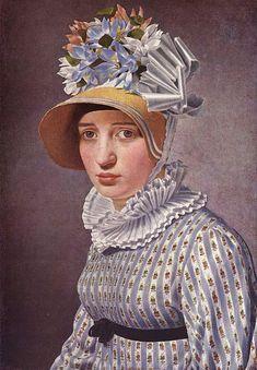 Christoffer Wilhelm Eckersberg — Portrait of Anna Maria Magnani, 1814 :The Hirschsprung Collection, Copenhagen. Jane Austen, Regency Gown, Regency Era, Anna Marias, Art Database, Empire Style, Berg, Fashion Plates, Sculpture